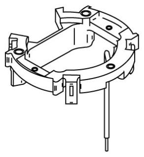 881ADP WAL PVC FLOOR BOX ADPTR PLT