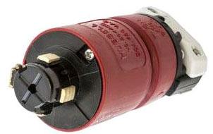 HBL20445B HUB 3P-4W 30A 480V MALE PLUG