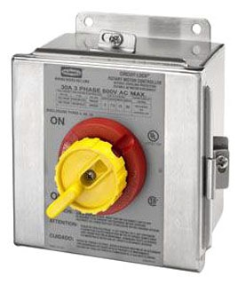 HBL13S33D HUBBELL 30A 600V 3P RTRY DISC SW 4X SS 78358520272