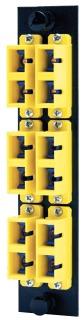 FSPSCDM6AQ HUBBELL FIBER, ADAPT PNL,12FIB,6SC,DUPLX,P-BZ,AQ