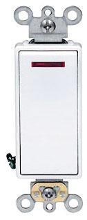5628-2W LEV WHITE DECORA ROCKER SWITCH