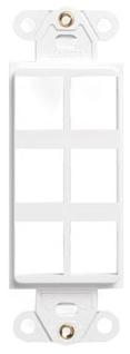 41646-00W LEV 6 PORT DECORA INSERT WHITE