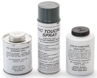PBTOUCHUP-SPRAY ROB 12 OZ. PVC GRAY TOUCHUP