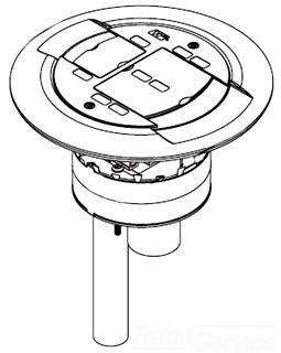 WIREMOLD AMD8-ATCGY POKE THRU (COLOR=GRAY)