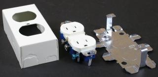 V57243G WMD IV 15A 125V DPLX RCPT & BOX 1/BOX