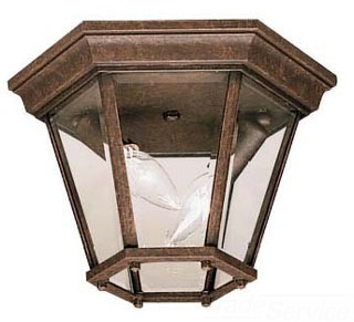 9850TZ KICHLER OUTDOOR FLUSH MOUNT 2LT INCAND 78392713655