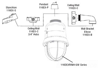 116EX-C EDWARDS CEILING/WALL MOUNTING MODULE