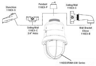 116EX-P EDWARDS PENDANT MOUNT BRACKET 78264008185