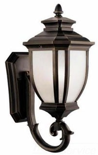 9041RZ KICHLER OUTDOOR WALL MOUNT 1LT INCANDE