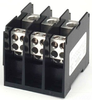 1323580 MARATHON 3POLE POWER DISTRIBUTION BLOCK; 1LINE TO 6LOAD PER POLE 78433723580