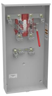 U1129-O-K3L-K2L MILB 400A 1PH METER SOCKET UNDERGROUND W/LUGS (320A CONTINUOUS)