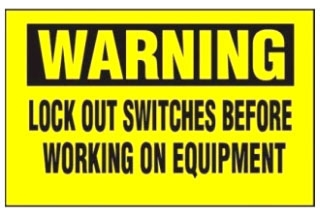 PVS0204W172Y PAN LOCKOUT SAFETY SIGN