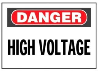 PRS0710D72 PAN LEG DANGER HIGH VOLTAGE
