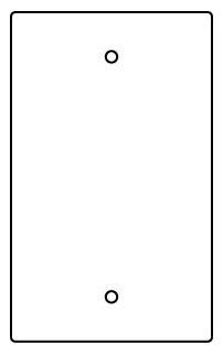 RFB119-B WMO 1-GANG BLANK DEVICE PLATE 78677603005