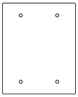 RFB119-2SB WIREMOLD 2-GANG BLANK SECTIONAL DEVICE PLATE 78677603009