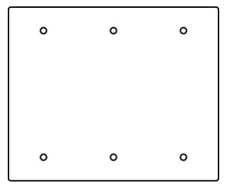 RFB119-3SB WIREMOLD 3-GANG BLANK SECTIONAL DEVICE PLATE 78677603010