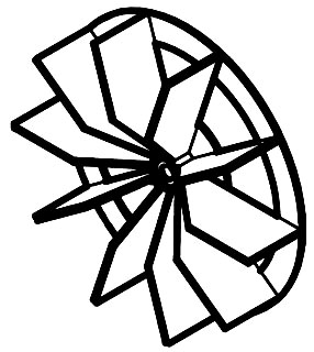 S99111002 NUTONE CAGE IMPELLER WHEEL 02671597200