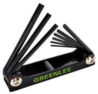 0254-11 GRE WRENCH,HEX-KEY SET 9 PC STD FOLDING 78331056323
