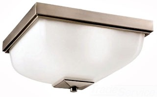 9817AP KICHLER OUTDOOR FLUSH MOUNT 2LT INCAND 78392725998