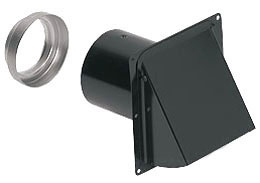 885BL NUTONE WALL CAP FOR 3 ROUND AND 4 ROUND DUCT