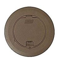 68R-CST-BRN T&B ROUND RECESSED COVER BROWN