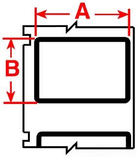 PTL-24-483-BK BRA 0 MM) - INCL. 0.062 IN BLACK BORDER 66282018715