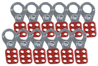 65376 BDY SAFETY LOCKOUTS - NON-LABELED LOCKOUT HASPS 12/pkg