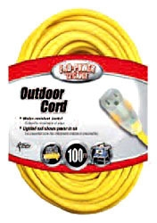 12/3 YELLOW 100' LIGHTED EXT CORD 2589SW0002