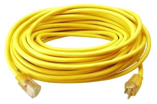 12/3 SJTW YELLOW 50' LIGHTED EXT CORD 025880002 COLEMAN