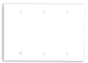 88033 LEV 3G PLATE BLANK WHITE