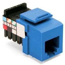 41106-RL6 LEV SNAP-IN JACK VOICE QUICKPORT 6P6C CAT3 BLUE