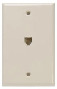 40249I LEV PHONE WALL MOUNT W/PLATE 6P4C IVORY