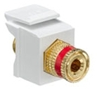 40833-BWR LEV F-TYPE SNAP IN GOLD/RED BINDING POST QUICKPORT WHITE