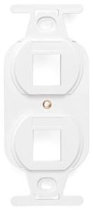 41087-2WP LEV 2-PORT DUPLEX FACEPLATE - FIELD CONFIG WHITE
