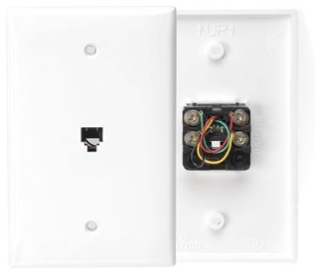 40539-PMW LEV PHONE/VIDEO WALL MOUNT MIDWAY 6P4C WHITE
