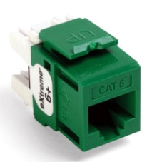 61110-RV6 LEV EXTREME CAT 6+ SNAP-IN JACK QUICKPORT GREEN