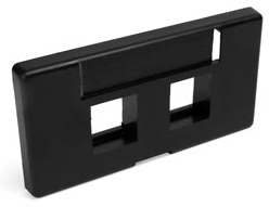 49910-SE2 LEV BLACK MOD FURN FACEPLATE ID WIN SC 2PORT