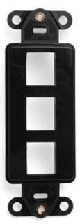 41643-00E LEV 3 PORT DECORA INSERT BLACK