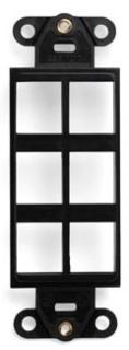 41646-00E LEV 6 PORT DECORA INSERT BLACK