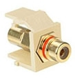 40830-BIR LEV RCA SNAP IN GOLD W/RED STRIPE QUICKPORT IVORY