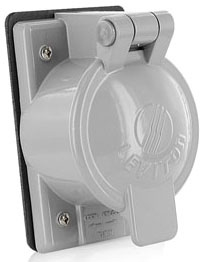 7770 LEVITON #2CD/RECEPTACLE COVER 07847782258