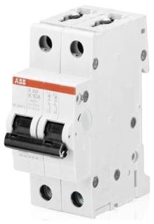 S202-K10 ABB MCB 2P K 10AMP 480Y/277VAC