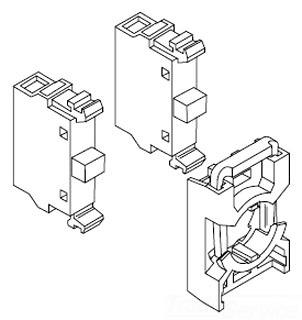 MCBH-20 ABB 2 NO CONTACT BLOCK W/HLDR