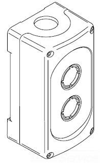 MEP2-0 ABB 2HOLE PLASTIC ENCLOSURE (CAE)