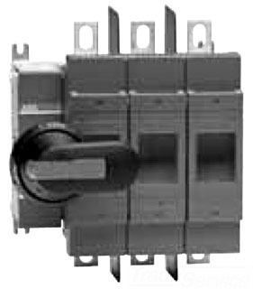 OS200J03 ABB 3POLE 200 AMP CLASS J FUSIBLE DISCONNECT SWITCH; ALL POLES TO RIGHT OF MECHANISM