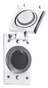 FSKWR2 APP 1-GANG 1-19/32 WP COVER FOR LOCK BLADE PLUGS