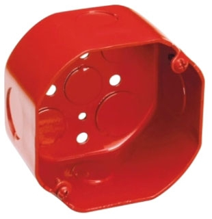 TP292RED C-HINDS 4 OCT COND OUTLET BOX 2 1/8 DEEP PAINTED RED 66227900052