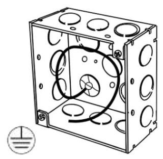 4SDEKP APP 4X2-1/8 DEEP SQ BOX W/ ECCENTRIC KO'S & GRND WIRE