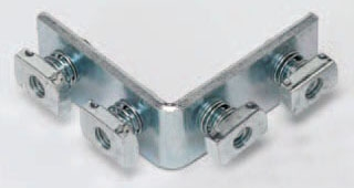 B115ZN BL FITTING 4-HOLE CORNER ANGLE PLTD SEE AB205