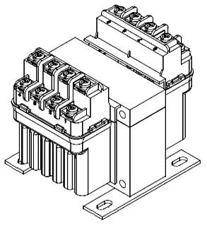 PH100MLI HAMMOND 100VA CONTROL TRANSFORMER 460/230/208V PRI 115/24V SEC